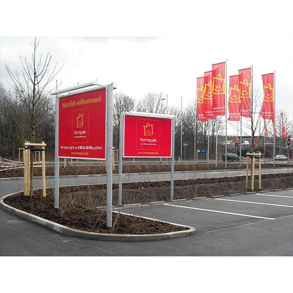 Hinweisbeschilderung-Infoboard-mit-Klapprahmen-IKEA-Homepark