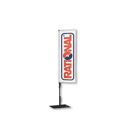 Beachflag - SQUARE - Größe M inkl. Tragetasche&Bodenplatte 400x400x5 mm Größe M (Höhe 2,40 mtr) - Beachflag-Square-1550-Bodenplatte