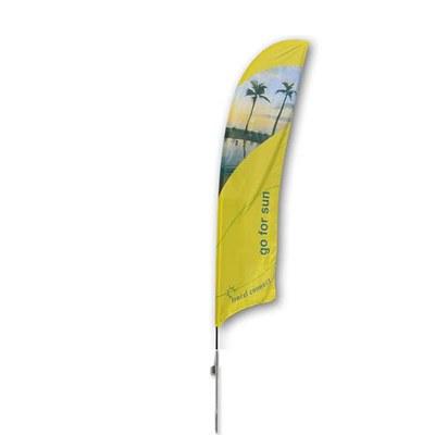 Beachflag - STANDARD - Größe L inkl. Tragetasche & Erddorn inkl. Fahne in Standardform - Beachflag-Standard-4100-Erdspiess