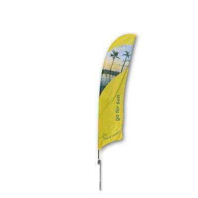 Beachflag - STANDARD - Größe M inkl. Tragetasche & Erddorn MIT Rotator - inkl. Fahne in Standardform - Beachflag-Standard-3100-Erdspiess-Rotator