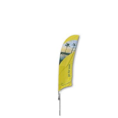 Beachflag - STANDARD - Größe S inkl. Tragetasche & Erddorn MIT Rotator - inkl. Fahne in Standardform - Beachflag-Standard-2500-Erdspiess Rotator