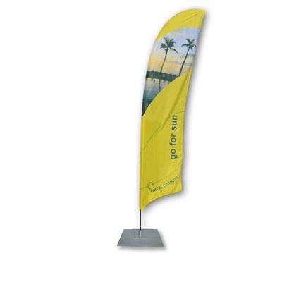 Beachflag - STANDARD Ausführung: Alumast als Stecksystem inkl. Tragetasche&Bodenplatte 400x400x4 mm - Beachflag-Standard-5200-Bodenplatte