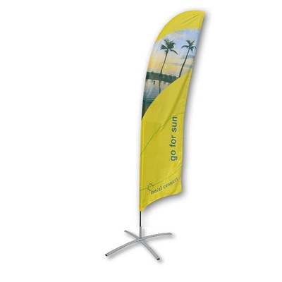 Beachflag - STANDARD - Größe XL inkl. Tragetasche & Kreuzfuss inkl. Fahne in Standardform - Beachflag-Standard-5200-Kreuzfuss