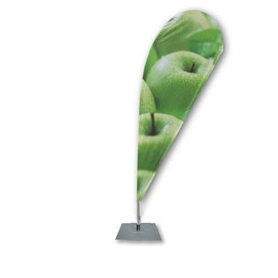 Beachflag - TROPFEN - Größe XL inkl. Tragetasche&Bodenplatte 500x500x6 mm Größe XL (Höhe 4,30 mtr) - Beachflag-Tropfen-4300-Bodenplatte-Rotator
