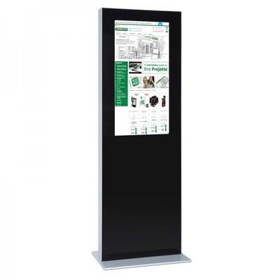 Digitale Info-Stele doppelseitig für den Inneneinsatz - Größe: 32 Zoll Farbe: schwarz - digitale infostele einseitig 32 zoll schwarz 1