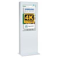 Digital Signage Digitale Info-Stele doppelseitig für den Inneneinsatz - Größe: 55 Zoll - 4K Farbe: weiss - Digitale Infostele doppelseitig 55 zoll weiß 4K