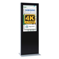Digital Signage Digitale Info-Stele doppelseitig für den Inneneinsatz - Größe: 43 Zoll - 4K UHD Farbe: schwarz - Digitale Infostele doppelseitig 43 zoll schwarz 4K