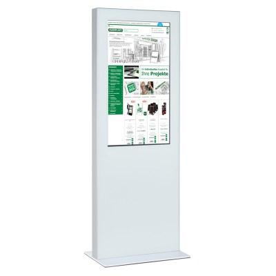 Digitale Info-Stele doppelseitig für den Inneneinsatz - Größe: 49 Zoll Farbe: weiss - Digitale Infostele einseitig 49 Zoll  weiß