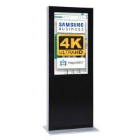 Digital Signage Digitale Info-Stele doppelseitig für den Inneneinsatz - Größe: 65 Zoll - 4K UHD Farbe: schwarz - Digitale Infostele doppelseitig 65 zoll schwarz 4K