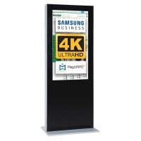 Digital Signage Digitale Info-Stele doppelseitig für den Inneneinsatz - Größe: 75 Zoll - 4K UHD Farbe: schwarz - Digitale Infostele doppelseitig 75 zoll schwarz   4K