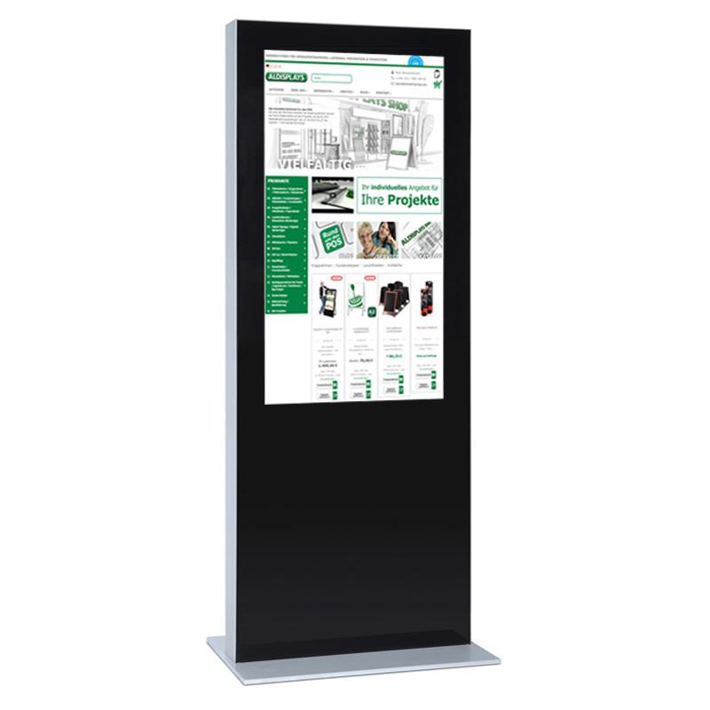 Digitale Infostele einseitig 65 Zoll schwarz.jpg