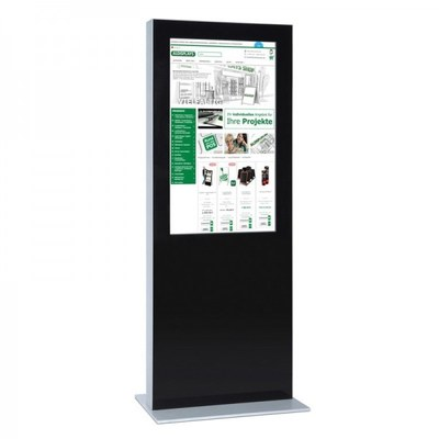 Digitale Info-Stele doppelseitig für den Inneneinsatz - Größe: 55 Zoll Farbe: schwarz - digitale infostele doppelseitig 55 zoll schwarz 2