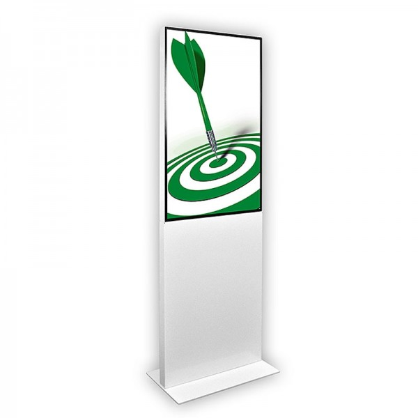 digitale info-stele eco 43 weiss