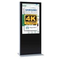 Digital Signage Digitale Info-Stele einseitig für den Inneneinsatz - Größe: 85 Zoll - 4K UHD Farbe: schwarz - Digitale Infostele einseitig 85 zoll schwarz  4K