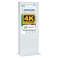 Digital Signage Digitale Info-Stele einseitig für den Inneneinsatz - Größe: 75 Zoll - 4K UHD Farbe: weiss - Digitale Infostele einseitig 75 zoll weiss 4K