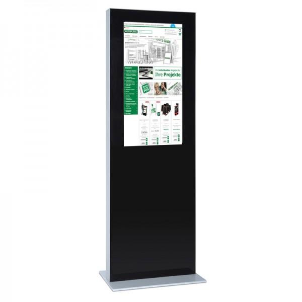 digitale infostele einseitig 32 zoll schwarz