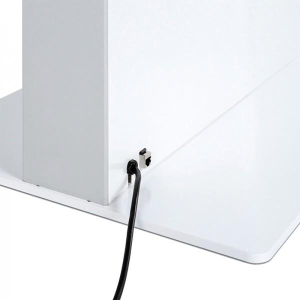 digitale infostele einseitig bodenplatte weiss 1