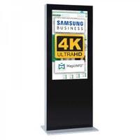 Digital Signage Digitale Info-Stele einseitig für den Inneneinsatz - Größe: 65 Zoll - 4K UHD Farbe: schwarz - Digitale Infostele einseitig 65 zoll schwarz 4K