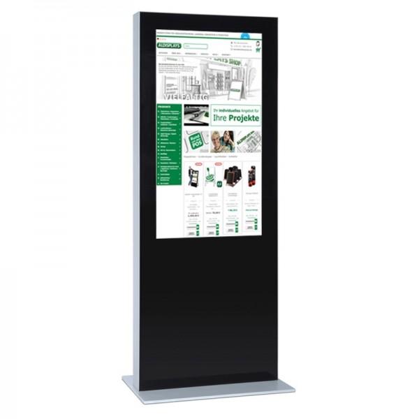 digitale infostele einseitig 65 zoll schwarz
