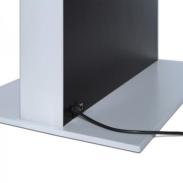 digitale infostele einseitig bodenplatte schwarz 1