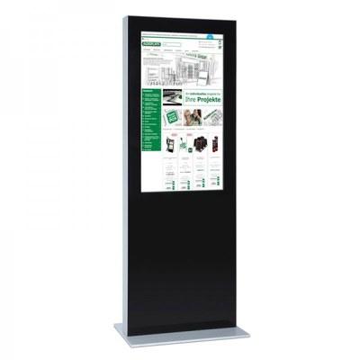 Digitale Info-Stele einseitig für den Inneneinsatz - Größe: 49 Zoll Farbe: schwarz - digitale infostele einseitig 49 zoll schwarz 1