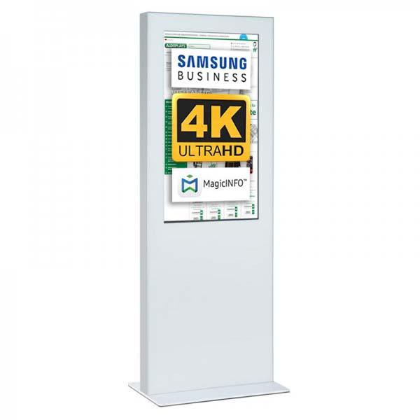 Digitale Infostele Slim einseitig 49 zoll weiss 4K.jpg