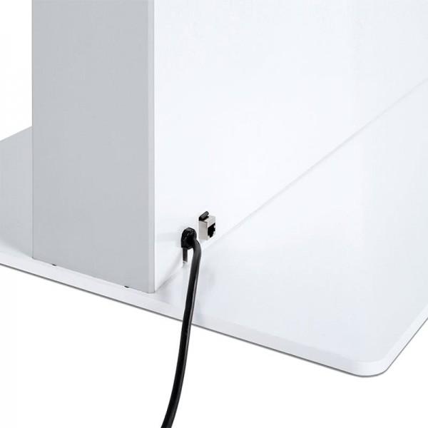 digitale infostele einseitig bodenplatte wei  3