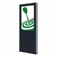 Digital Signage Digitale Info-Stele OUTDOOR für den Außenbereich - Größe: 55 Zoll - 4K UHD Schutzklasse: IP 56 - Digitale Info-Stele OUTDOOR 55 Zoll