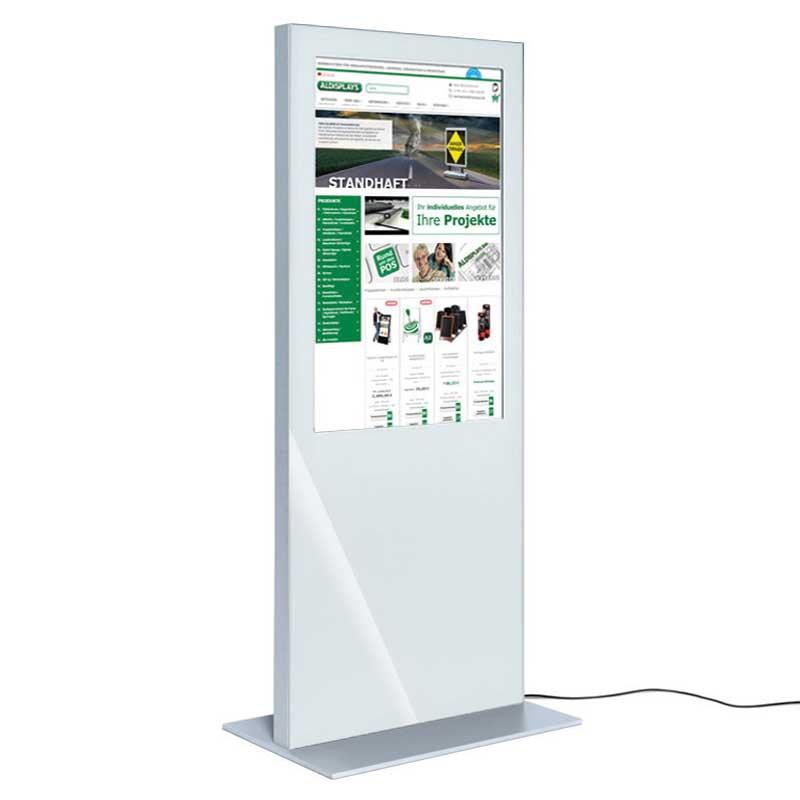 Digitale Infostele SLIM einseitig 55 Zoll weiß.jpg