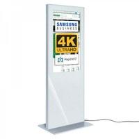 Digital Signage Digitale Info-Stele SLIM für den Inneneinsatz - Größe: 43 Zoll - 4K UHD Farbe: weiss - Digitale Infostele Slim einseitig 43 zoll weiss 4K