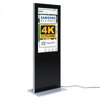 Digital Signage Digitale Info-Stele SLIM für den Inneneinsatz - Größe: 43 Zoll - 4K UHD Farbe: schwarz - Digitale Infostele Slim einseitig 43 zoll schwarz 4K