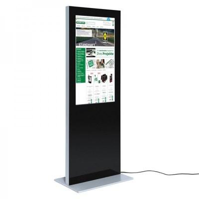 Digital Signage Digitale Info-Stele SLIM für den Inneneinsatz - Größe: 43 Zoll Farbe: schwarz - digitale infostele slim einseitig 43 zoll schwarz 1
