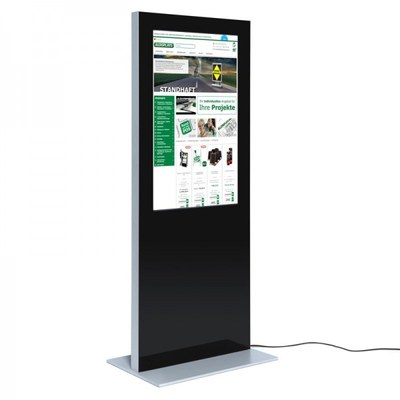 Digital Signage Digitale Info-Stele SLIM für den Inneneinsatz - Größe: 49 Zoll Farbe: schwarz - digitale infostele slim einseitig 49 zoll schwarz 2