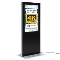 Digital Signage Digitale Info-Stele SLIM für den Inneneinsatz - Größe: 55 Zoll - 4K UHD Farbe: schwarz - Digitale Infostele Slim einseitig 55 zoll schwarz 4K