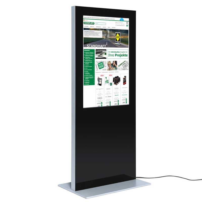 Digitale Infostele SLIM einseitig 55 Zoll schwarz.jpg