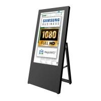 Digital Signage Digitaler Kundenstopper für den Inneneinsatz - Größe: 32 Zoll - Full HD Ausführung: schwarz - einseitig - digitaler-kundenstopper-32-zoll-schwarz