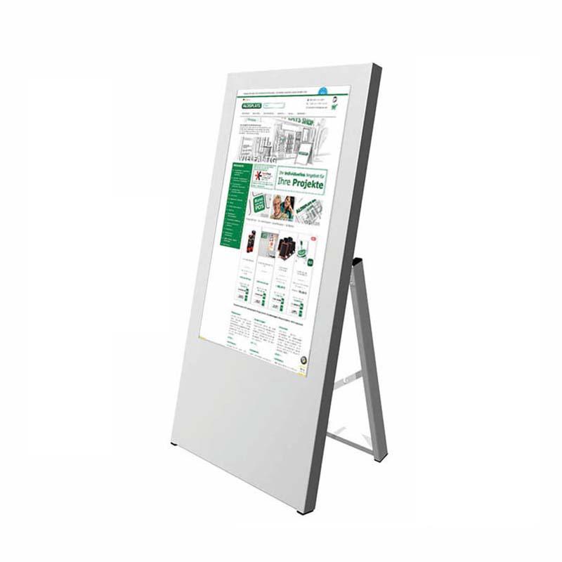 Digitaler Kundenstopper 32 Zoll weiß.jpg