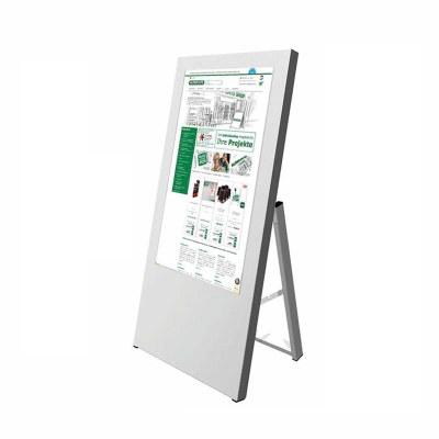 Digitaler Kundenstopper für den Inneneinsatz - Größe: 32 Zoll Ausführung: weiss - einseitig - Digitaler Kundenstopper 32 Zoll weiß