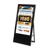 Digital Signage Digitaler Kundenstopper für den Inneneinsatz - Größe: 43 Zoll - Full HD Ausführung: schwarz - einseitig - digitaler-kundenstopper-43-zoll-schwarz