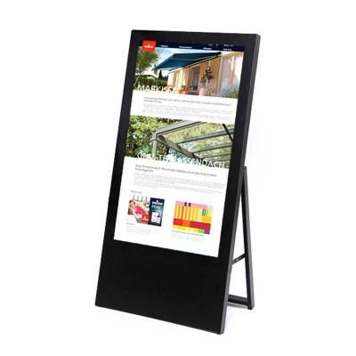 Digitaler Kundenstopper für den Inneneinsatz - Größe: 43 Zoll Ausführung: schwarz - einseitig - Digitaler Kundenstopper 43 Zoll schwarz