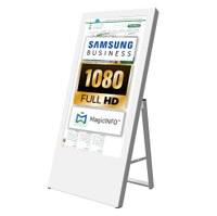 Digital Signage Digitaler Kundenstopper für den Inneneinsatz - Größe: 43 Zoll - Full HD Ausführung: weiss - einseitig - digitaler-kundenstopper-43-zoll-weiss