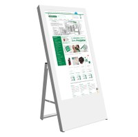 Digital Signage Digitaler Kundenstopper für den Inneneinsatz - Größe: 43 Zoll Ausführung: weiss - einseitig - Digitaler Kundenstopper 43 Zoll weiss