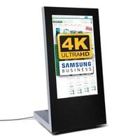 Digital Signage Digitaler Kundenstopper PREMIUM für den Inneneinsatz - Größe: 43 Zoll - 4K UHD Ausführung: schwarz - einseitig - Digitaler Kundenstopper PREMIUM 4K