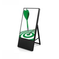 Digital Signage Digitaler Kundenstopper TrendLine für den Inneneinsatz - Größe: 32 Zoll Ausführung: schwarz - einseitig - Digitaler Kundenstopper 32 schwarz ohne Logo