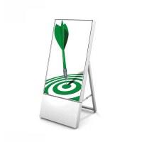 Digital Signage Digitaler Kundenstopper TrendLine für den Inneneinsatz - Größe: 32 Zoll Ausführung: weiss - einseitig - Digitaler Kundenstopper 32 weiss