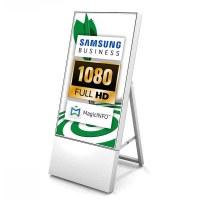 Digital Signage Digitaler Kundenstopper TrendLine für den Inneneinsatz - Größe: 32 Zoll - Full HD Ausführung: weiss - einseitig - DKS Trendline 32 zoll weiß