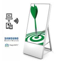 Digital Signage Digitaler Kundenstopper TrendLine für den Inneneinsatz - Größe: 43 Zoll Ausführung: weiss - einseitig - DKS Trendline ws