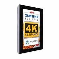 Digital Signage Digitales Info-Display - Hochform. einseitiger 43 Zoll-Bildschirm - schwarz - 4K UHD zur Wandmontage - Digitale Info Display Hochformat 43er 4K