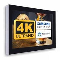 Digital Signage Digitales Info-Display - Querform. einseitiger 55 Zoll-Bildschirm - schwarz - 4K UHD zur Wandmontage - Digitale Info Display Querformat 55er 4K