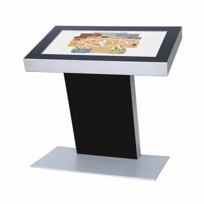 Digitales Kiosk - Querformat einseitiger 32 Zoll-Bildschirm - schwarz incl. Samsung-LED Display für den 16/7-Einsatz - Digitales Kiosk